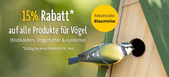 """NABU-Shop-Aktion zur """"Stunde der Gartenvögel"""""""