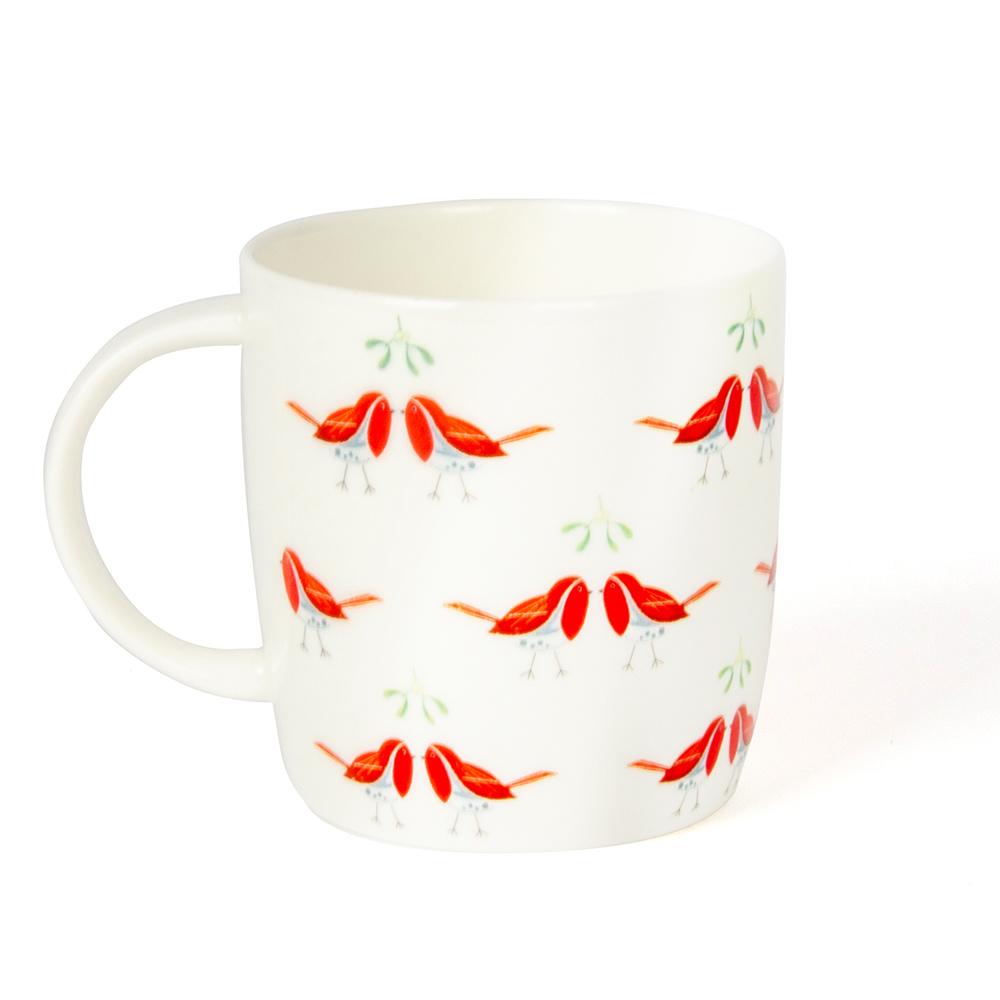 Tasse Küssende Rotkehlchen
