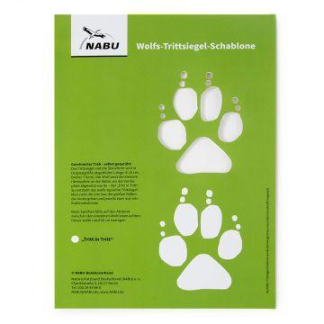 Wolfs-Fährten-Schablone