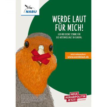 """Poster """"Werde laut!"""" Rebhuhn"""