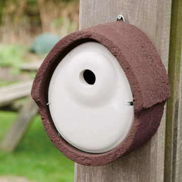 Nistkasten Holzbeton oval, 32mm