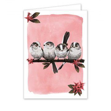Grußkarte Schwanzmeise