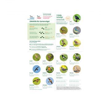 Zählhilfe - Stunde der Gartenvögel 2021