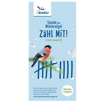 Faltblatt Stunde der Wintervögel 2021- Zähl mit!
