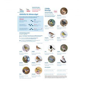 Zählhilfe - Stunde der Wintervögel 2021