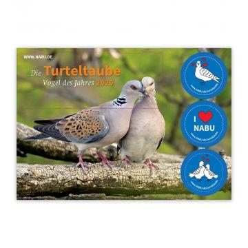 """Aufkleberpostkarte """"Die Turteltaube – Vogel des Jahres 2020"""""""