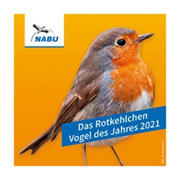 """Aufkleber """"Das Rotkehlchen - Vogel des Jahres 2021"""