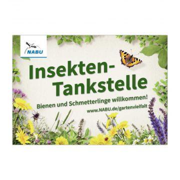 """Schild """"Insekten-Tankstelle"""""""