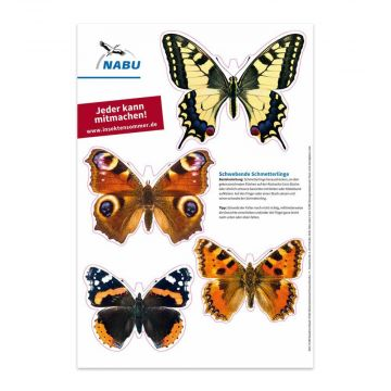 """Schwebetierchen """"Schmetterlinge"""" - Bastelvorlage"""