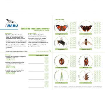 Zählhilfe Juni - Insektensommer 2021