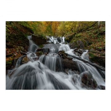 Postkarte Wasserfall im Kaukasus