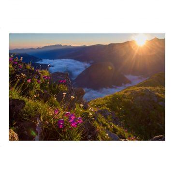 Postkarte Sonnenaufgang im Kaukasus