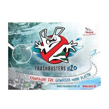 Flyer Trashbusters H2O: Kampagne für Gewässer ohne Plastik