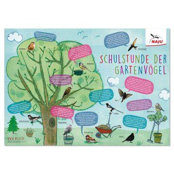 """Poster """"Schulstunde der Gartenvögel"""""""