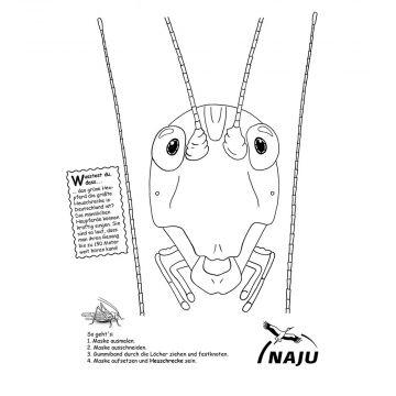 Tiermaske Heuschrecke