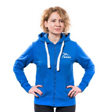 Sweatjacke Damen royal/blau