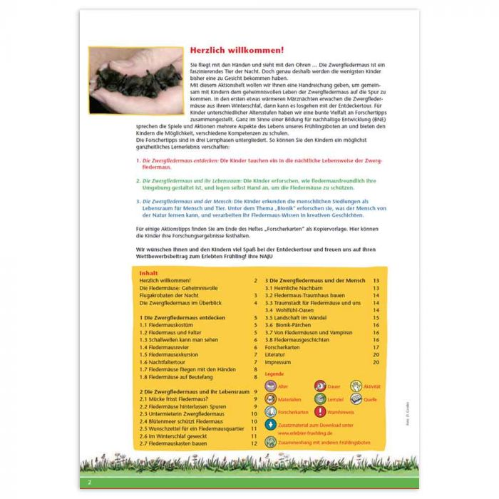 Erlebter Frühling - Aktionsheft Zwergfledermaus