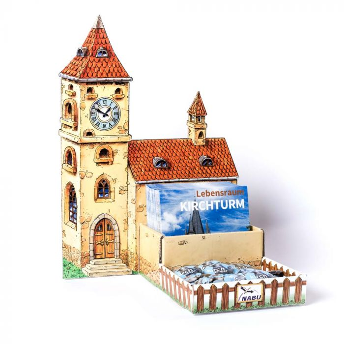 Paket Aufsteller Lebensraum Kirchturm mit Aufsteller