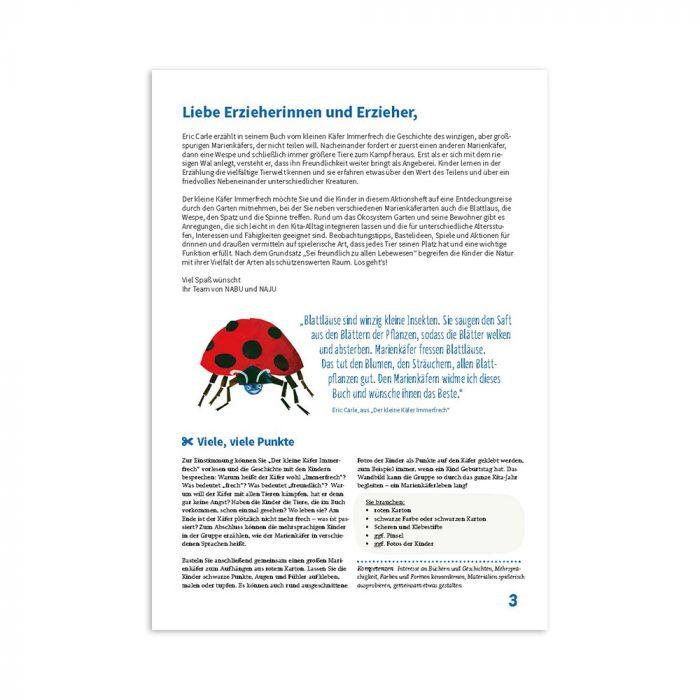 Schau mal, wer da wohnt - Aktionsideen für Kitas zum Käfer Immerfrech