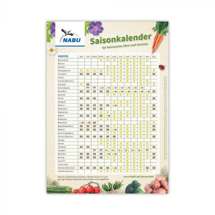 Saisonkalender für heimisches Gemüse und Obst
