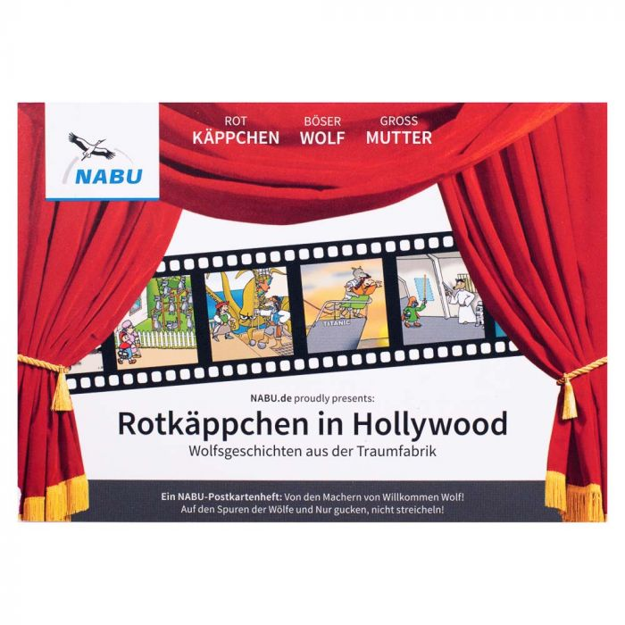 Postkartenheft Rotkäppchen in Hollywood