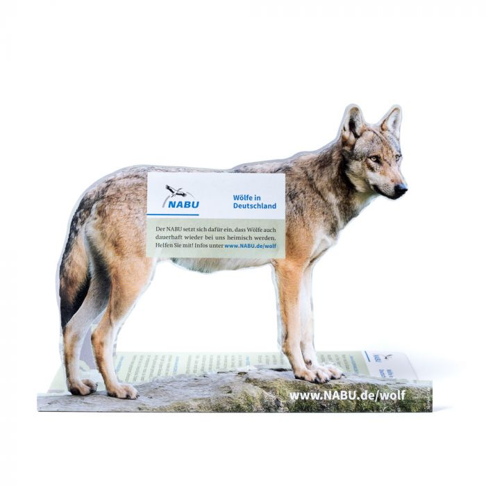Tischaufsteller Wolf to go
