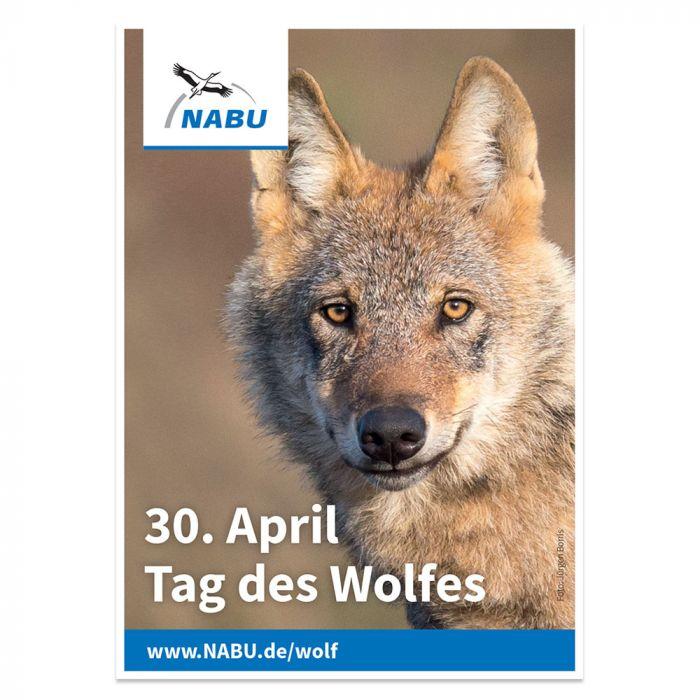 Aufkleber Tag des Wolfes