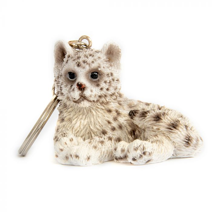 Schlüsselanhänger Schneeleopard