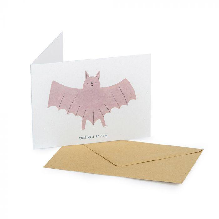 Grußkarte Fledermaus