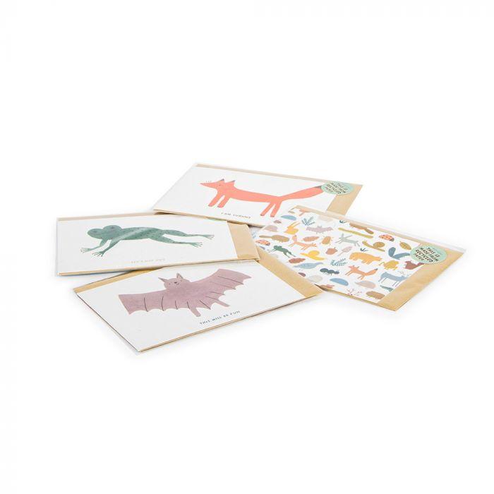 Grußkarte Waldtiere