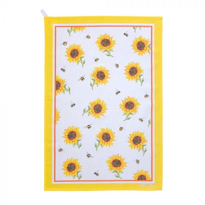 Geschirrtücher mit Hummeln und Sonnenblumen im 2er-Set