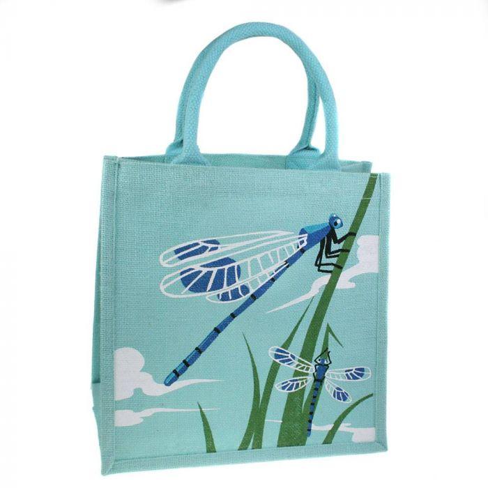 Jute-Einkaufstasche Libellen