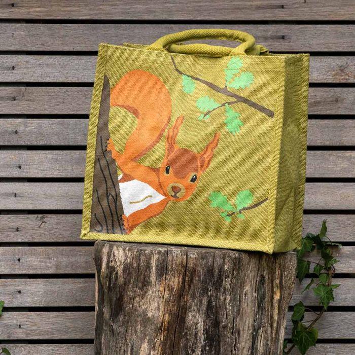 Jute-Einkaufstasche Eichhörnchen