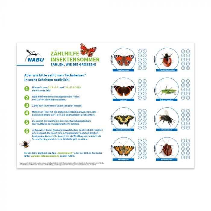 Aktionspaket Kitas zum Insektensommer