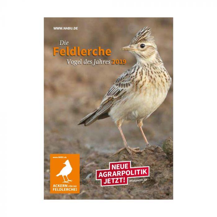 Die Feldlerche – Vogel des Jahres 2019 (Aufkleber-Postkarte)