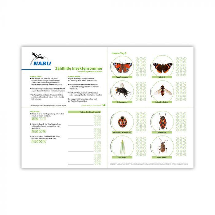 Zählhilfe Mai/Juni Insektensommer 2020