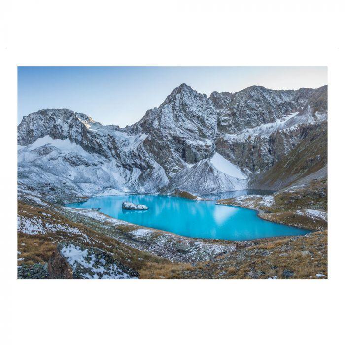 Postkarte Bergsee im Kaukasus