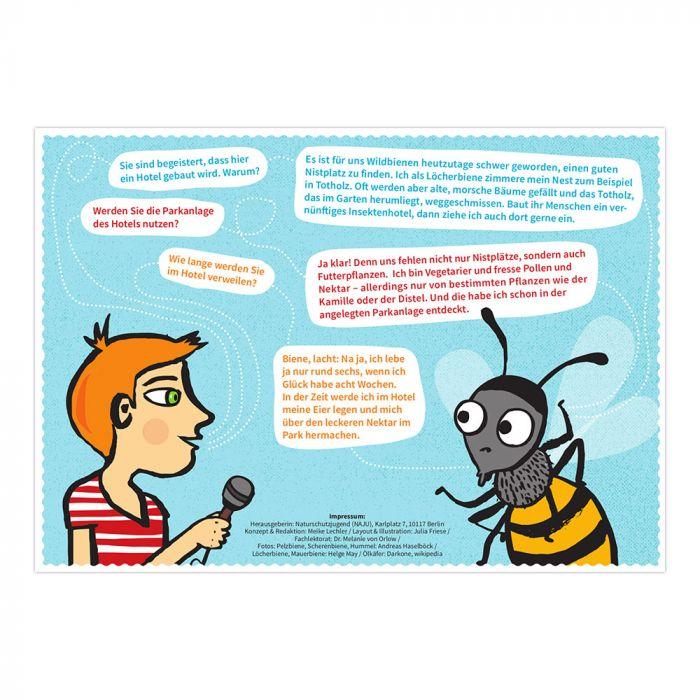 Bee's Inn: Wildbienenhotel-Gründer*innen